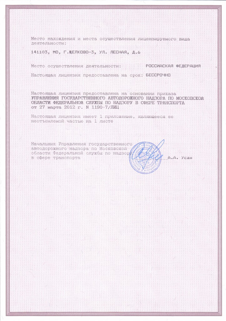 Лицензия ООО2